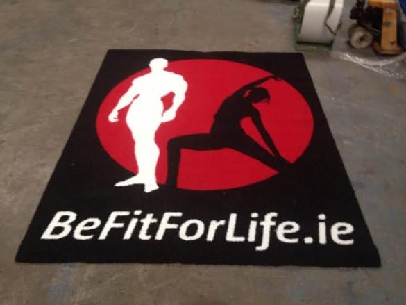 Be Fit for Life gym track logo mat in Ireland