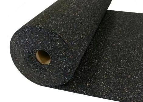 roll of black rubber padding