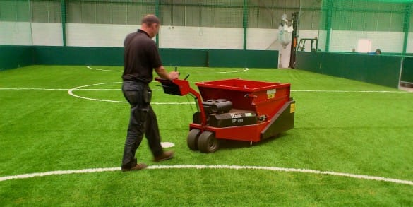 infill level machinery for astro turf