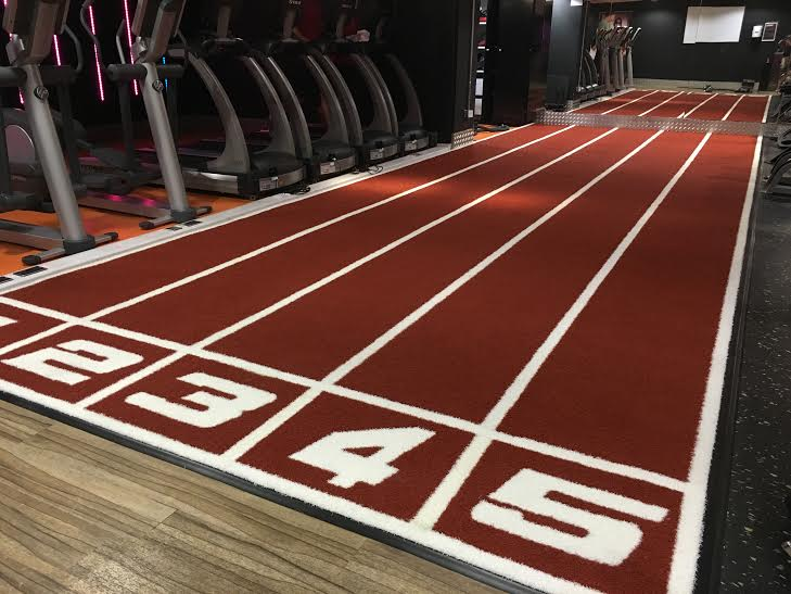 five lane rust gym track indoors at London gym
