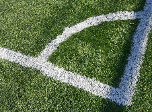 corner line markings of a football pitch