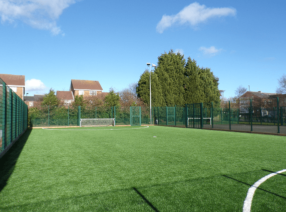 5-a-side enclosed football pitch