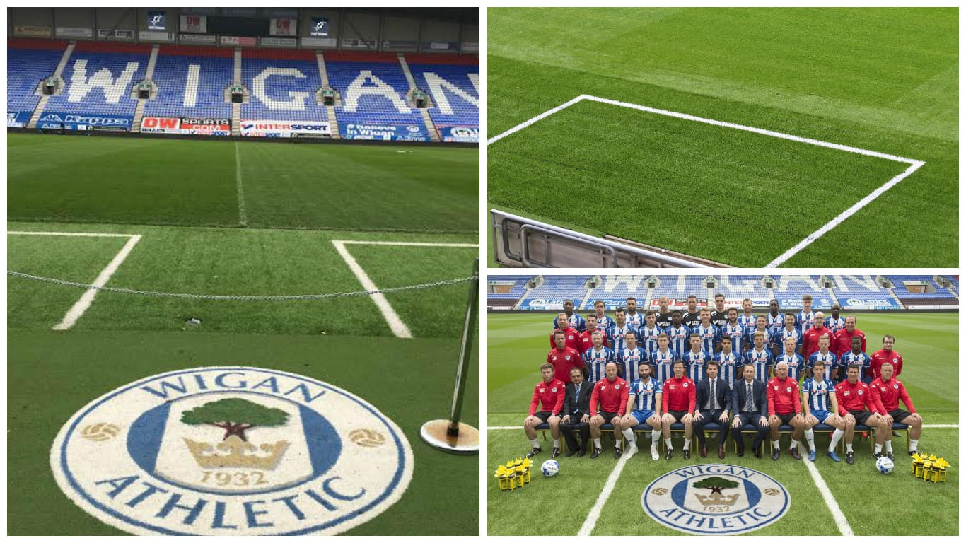 wigan athletic artificial grass technical areas