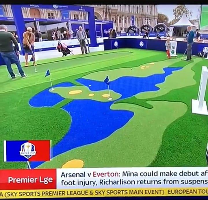 corporate golf green crazy golf