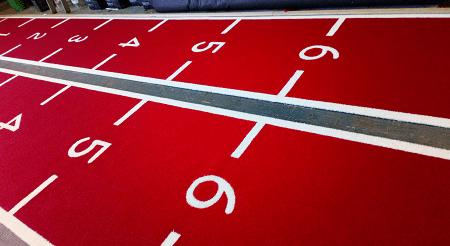 gym sled track