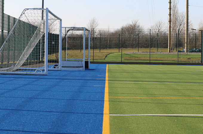 hockey pitch goals