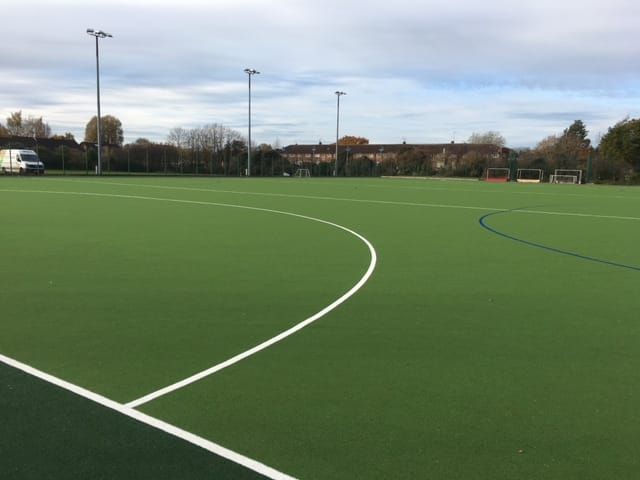 hockey club synthetic pitch in green