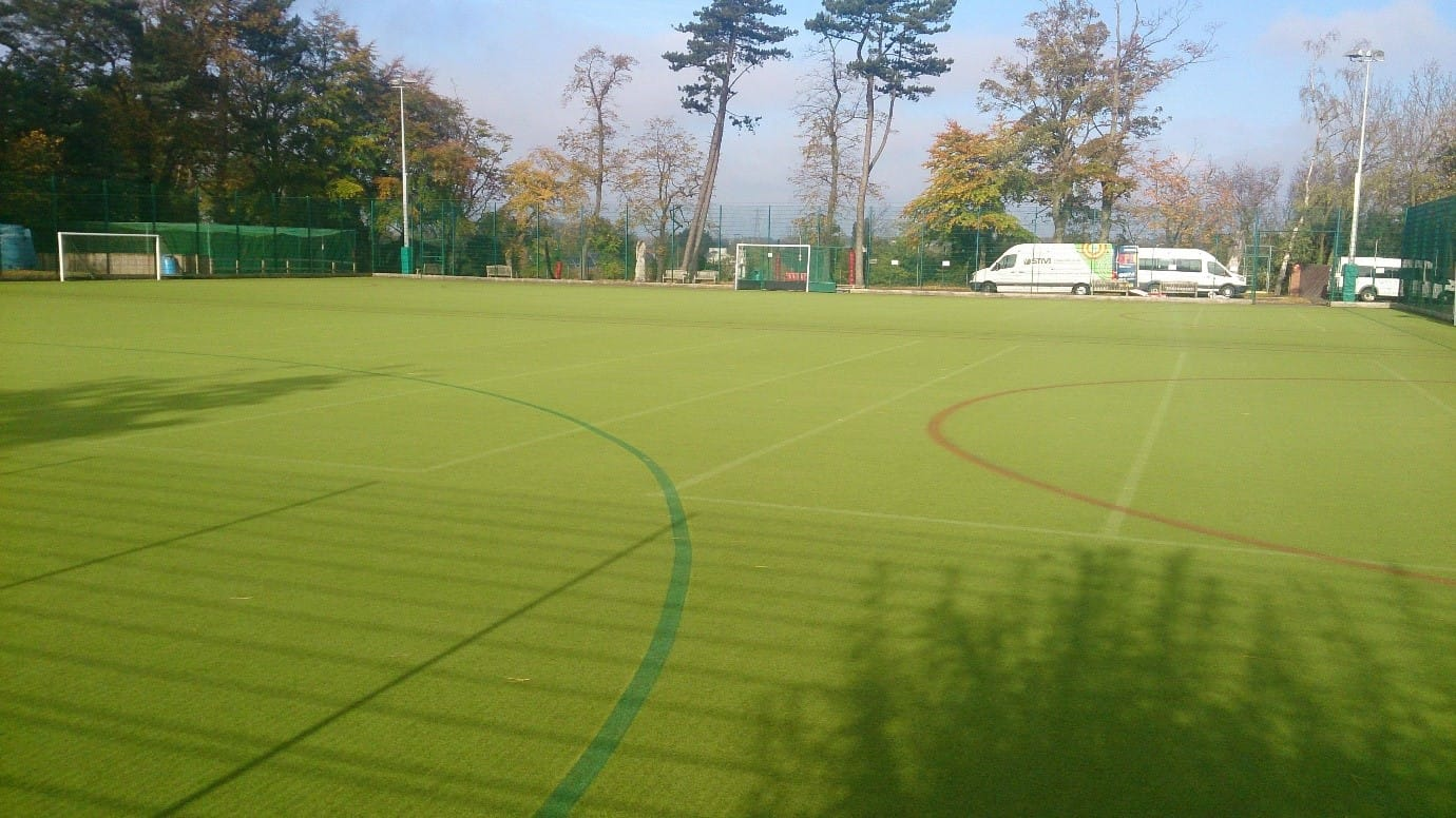 artificial turf muga in green