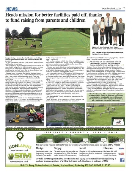 News from STM and Lion Lawns in supply and installation