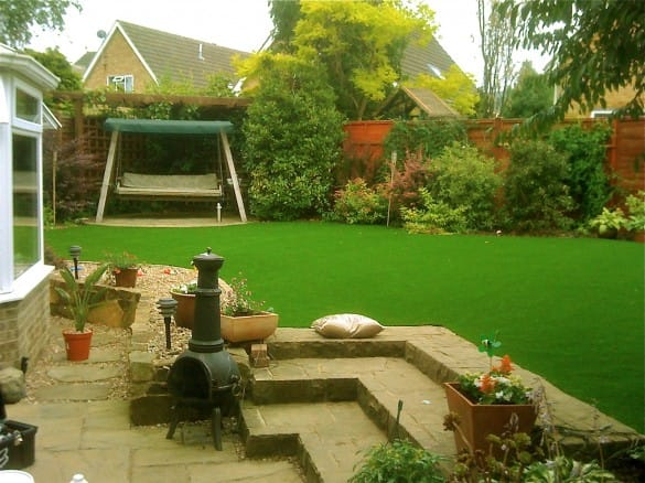 artificial grass landscape garden