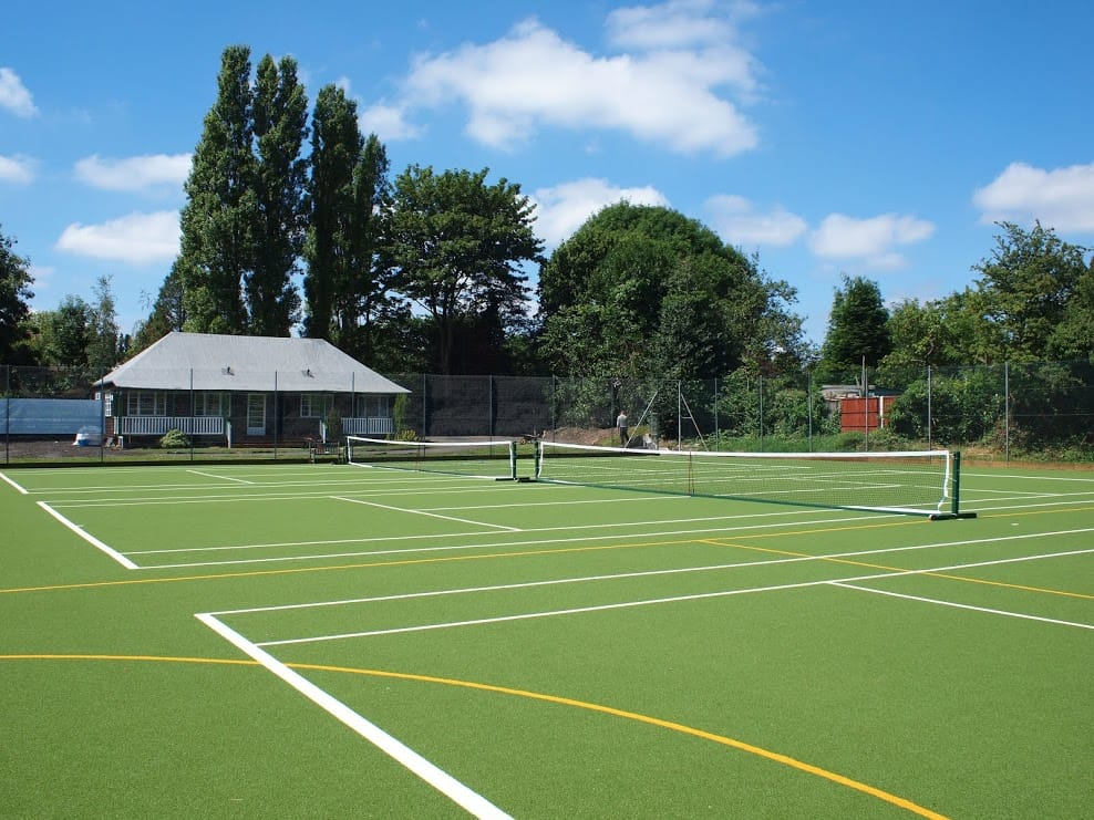 Beechcroft after tennis court artificial turf resurfacing