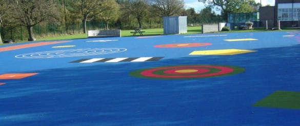 EPIC Primary School Playground in blue with bespoke designs