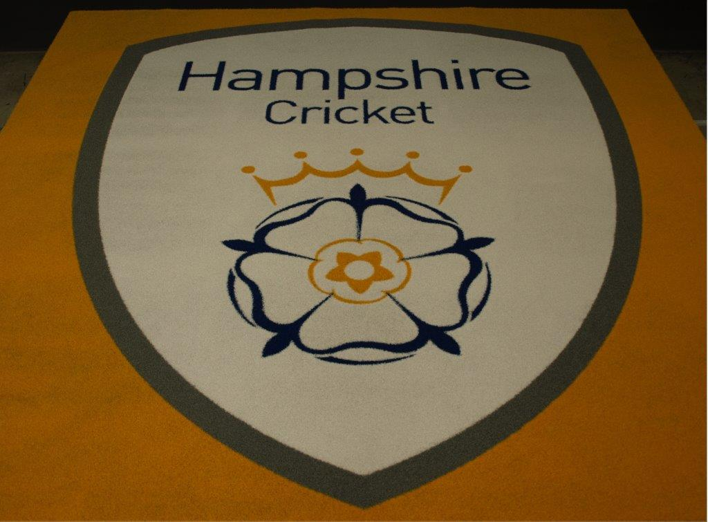 Hampshire cricket synthetic turf logo mat
