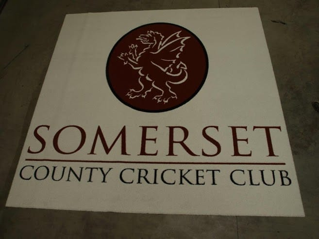 Somerset County Cricket Club logo mat