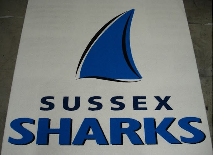 Sussex Sharks Logo Mat