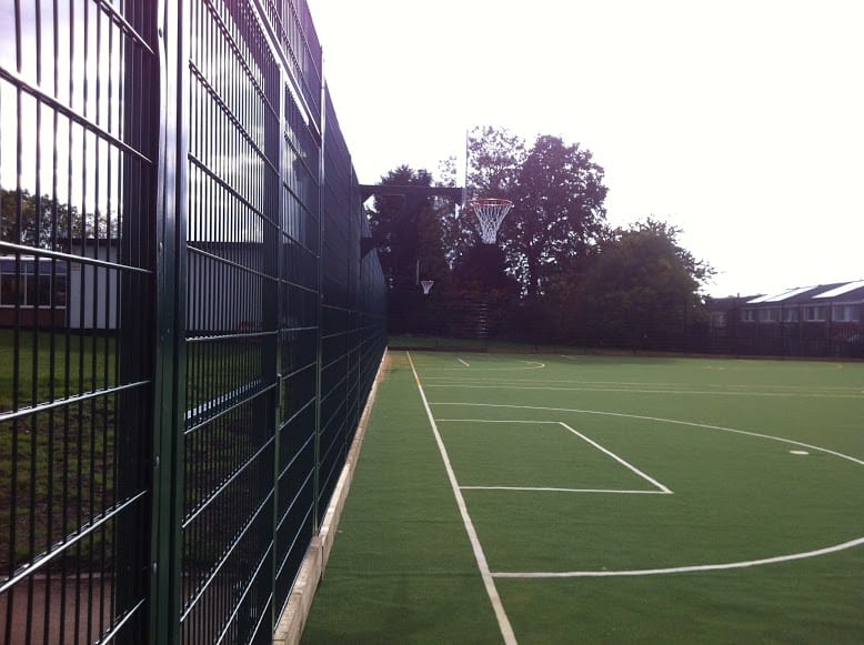 fencing along the MUGA and new basketball hoops