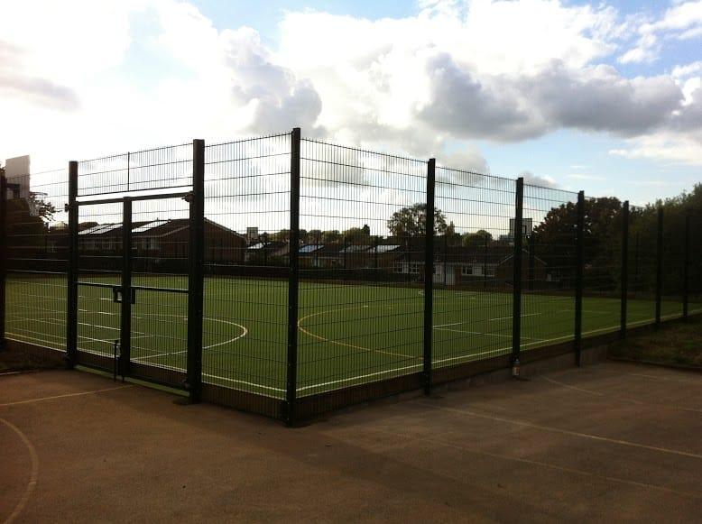 MUGA metal fencing