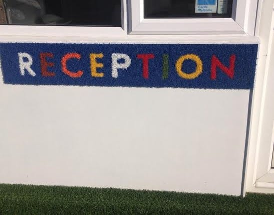 Artificial Turf Reception Sign