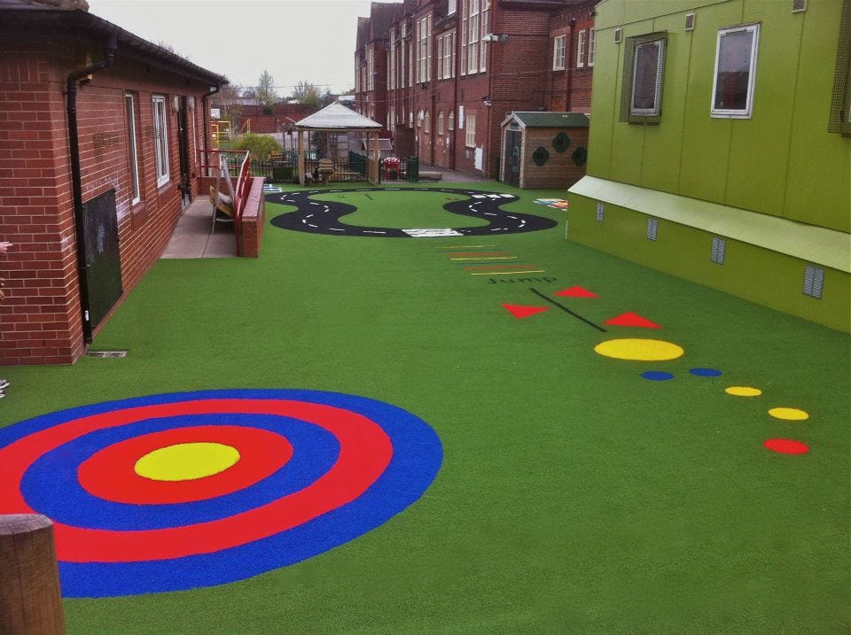Playground Targets With Artificial Turf Playground