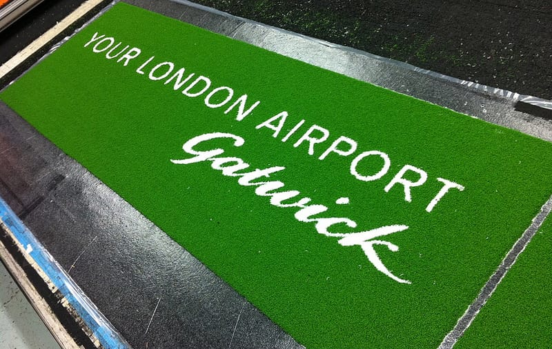London Gatwick Airport logo mat