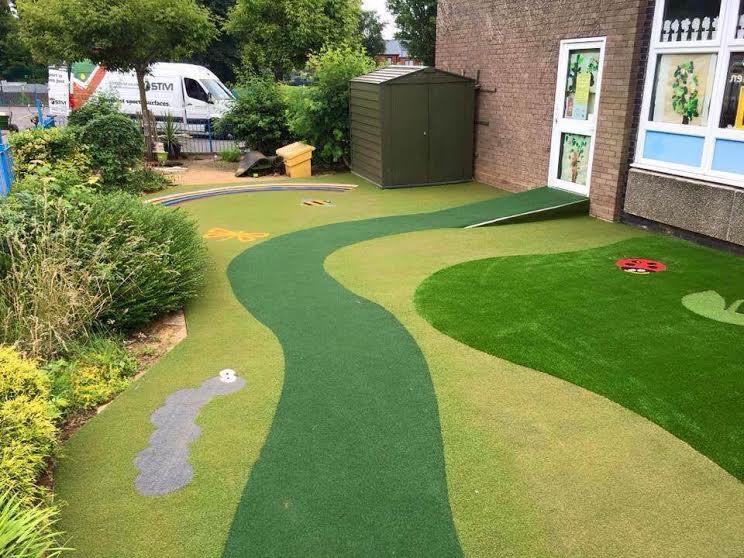 Outdoor Classroom Garden with Synthetic Turf | Astro Turf ... on Astro Turf Backyard Ideas id=36004
