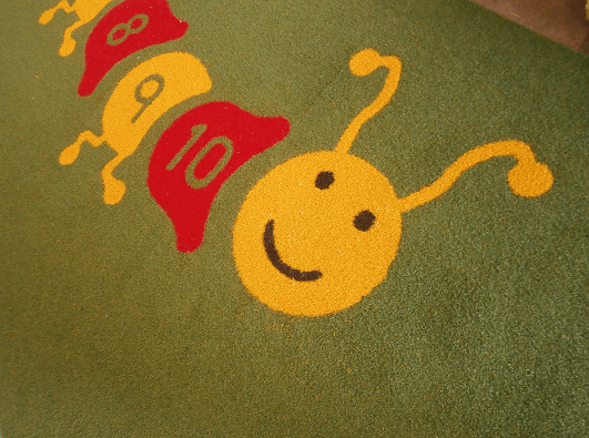 smiling caterpillar design for playground